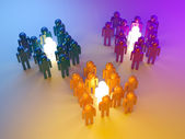 Leadership. Management of groups. 3d illustration — Stock Photo