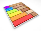 Color palette and decorative material. 3d illustration — Stock Photo