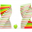 Books. 3d Illustration on a white background — Stock Photo