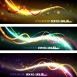 Colorful Organic Banner Set — Stock Vector