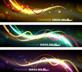 Colorful Organic Banner Set — Stockvector
