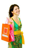 Young girl with bag — Stock Photo