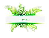 Zielonym tle — Wektor stockowy