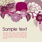 Flowers violet background — Stock Vector