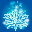 Blue lotus - Stock Vector