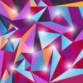 Multicolor triangle texture — Stock Vector