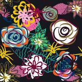 Abstract floral background — Stok Vektör