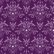 Purple damask - Stock Vector