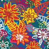 Fleurs aux couleurs vives — Vecteur