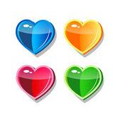 čtyři srdce — Stock vektor