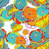 абстрактные цветы акварель — Cтоковый вектор