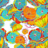 Fleurs aquarelles abstraites — Vecteur