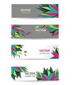 Bright banners — Stock Vector