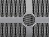 Karanlık altıgen metal ızgara doku vektör çizim — Stok Vektör