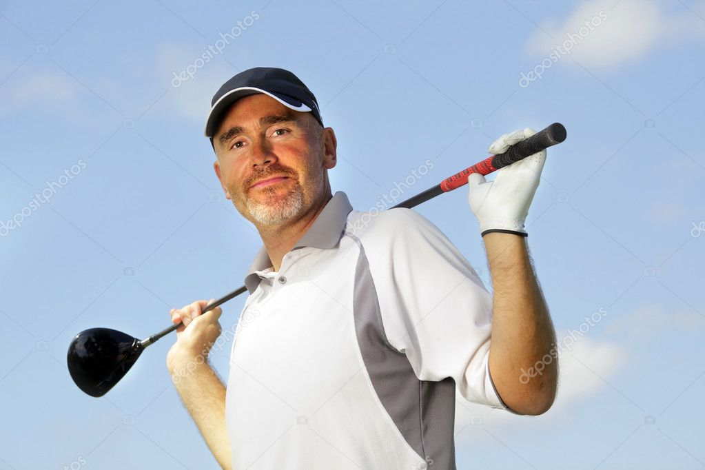 Mature golf player  — Stock Photo #5957315