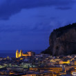 Cefalu in twilight, Sicily - Stock Photo