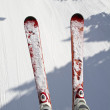 Ski and snow background — Stock Photo #5404052