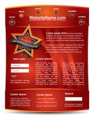 Editable web2 website template — Stock Vector