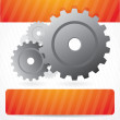 Stock Vector: Background composition with gears and place for text