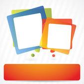 Fondo luminoso vector con burbujas coloridas discurso — Vector de stock