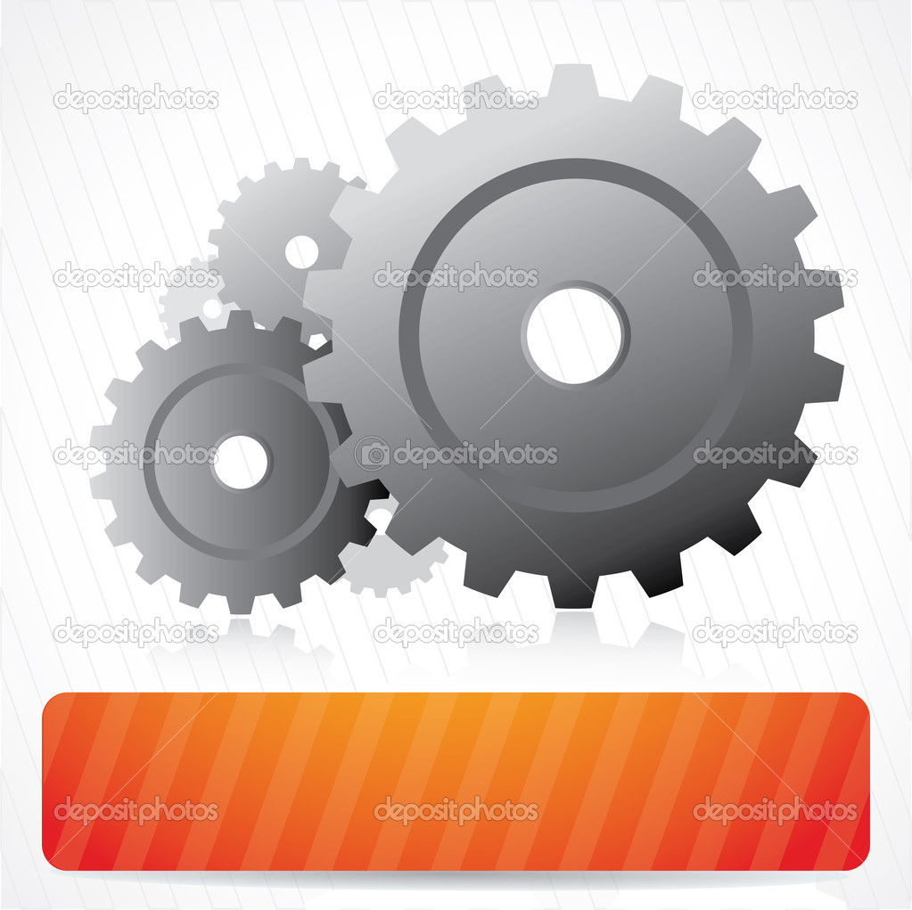 Abstract vector background composition with gears and place for text   Stock Vector #5562483