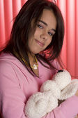 Cradling her baby — Stock Photo