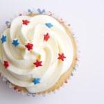 Patriotic cupcake — Stock Photo