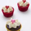 Постер, плакат: Three small cupcake