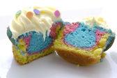 Tie dye cupcake — Stock Photo