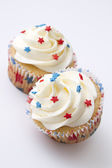 Patriotic cupcake — Stock Photo