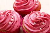 Pretty pink cupcake — Stock Photo