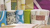 Samples of carpet coverings — Foto de Stock