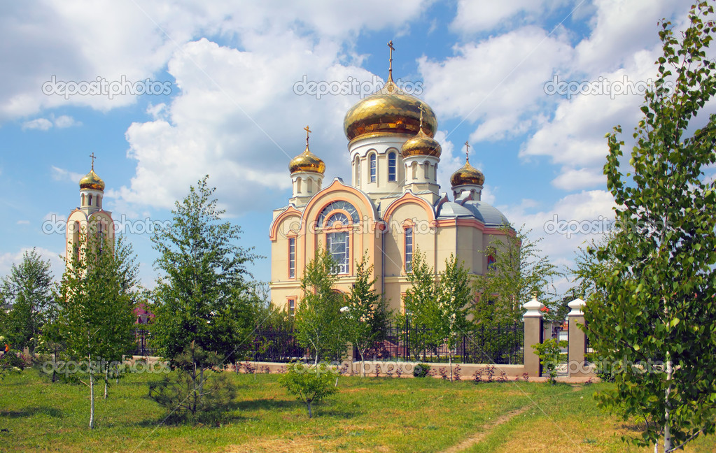 Odessa. A young temple in honor of martyr Victor — Stock Photo #5709787