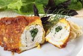 Chicken roll — Fotografia Stock