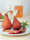 Dessert from a pear — Stock Photo