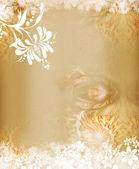 Floral grunge frame — Stock Photo