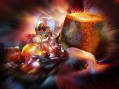 Chleb wielkanoc — Zdjęcie stockowe