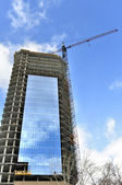 Unfinished building construction — Stock Photo