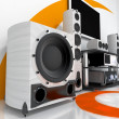 Hi-end audio system - Stock Photo
