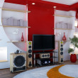Home theater — 图库照片