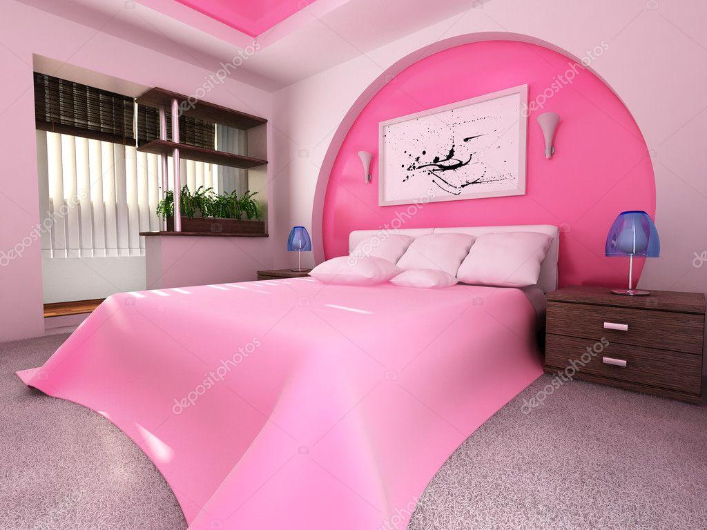 Slaapkamer interieur — stockfoto © pisotskii #5750231