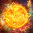 Stock Photo: Solar explosion illustration