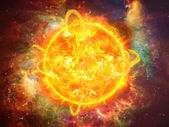 Solar explosion illustration — Stock Photo