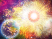 Solar explosion illustration — Stockfoto