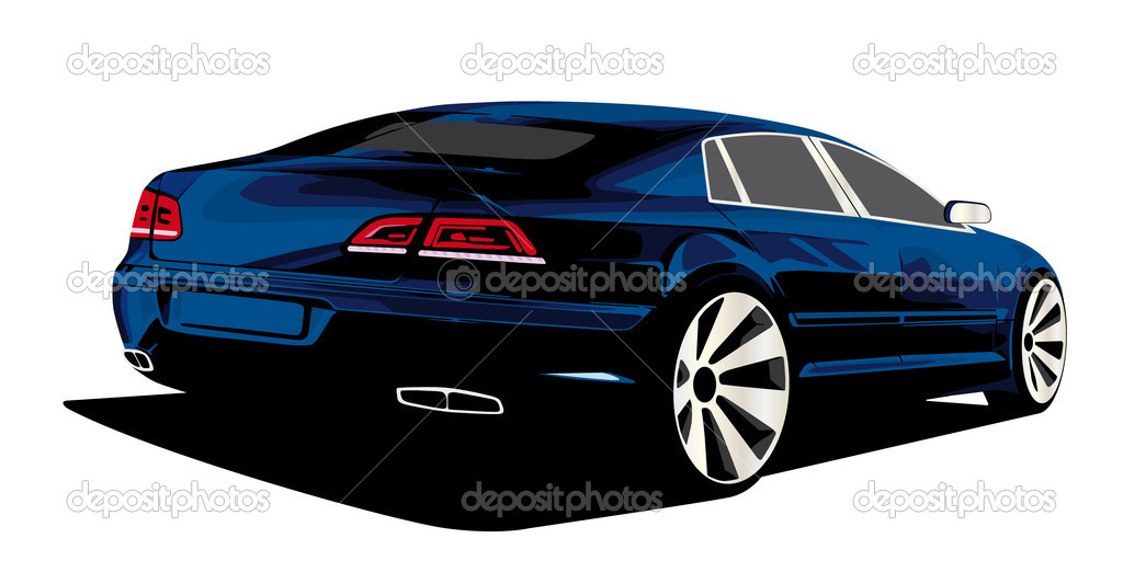 Exclusive sedan car prototype — Stock Vector #5994827