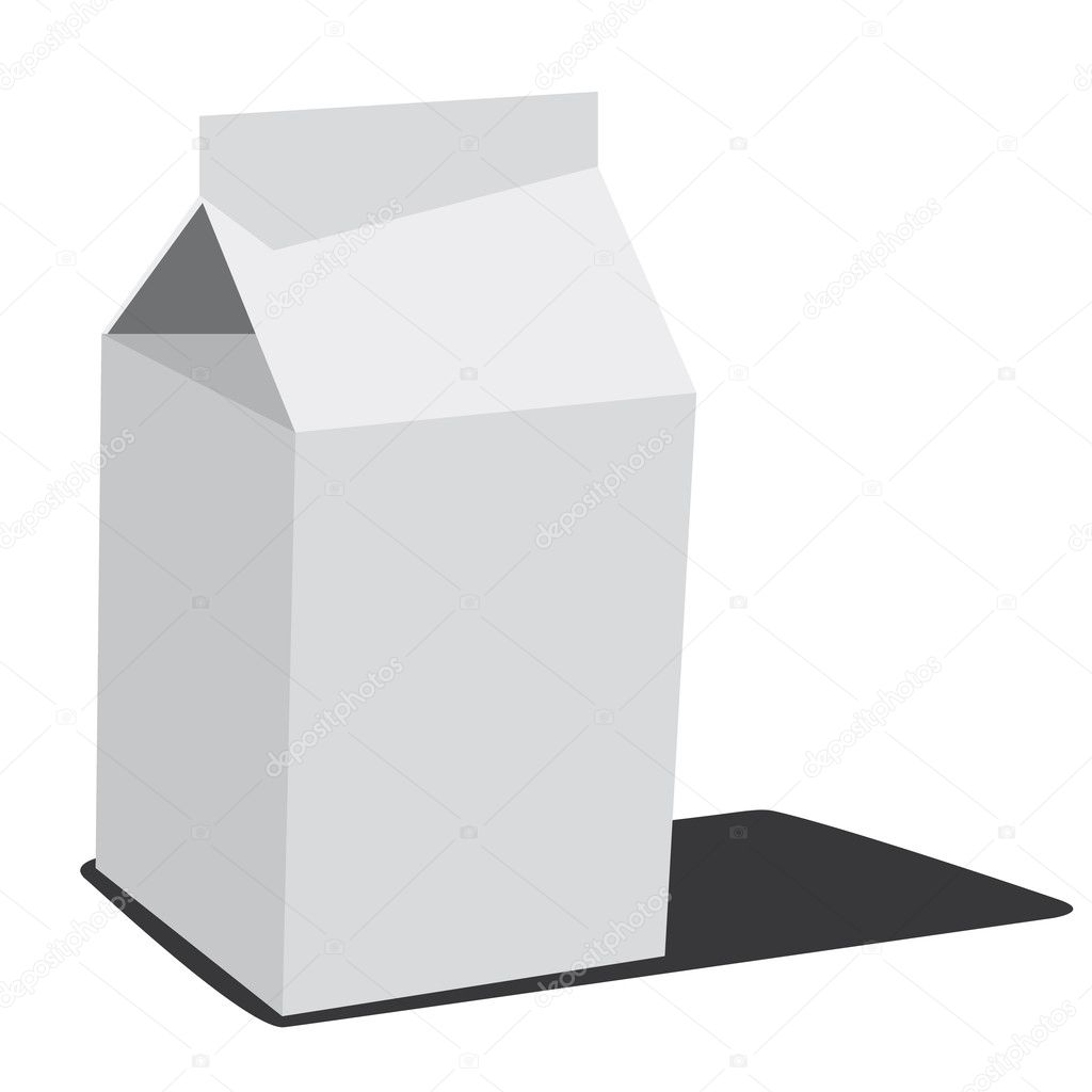 White milk box — Grafika wektorowa #6283915
