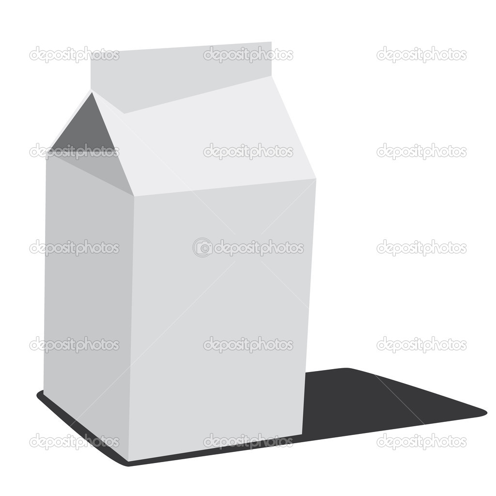 White milk box  Image vectorielle #6283915