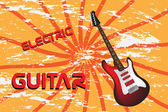 Electric guitar — Vector de stock