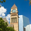 Clock Tower - Old City Hall of Toronto - Stock Photo