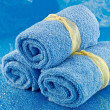 Rolled up Bath Towels - Stock Photo